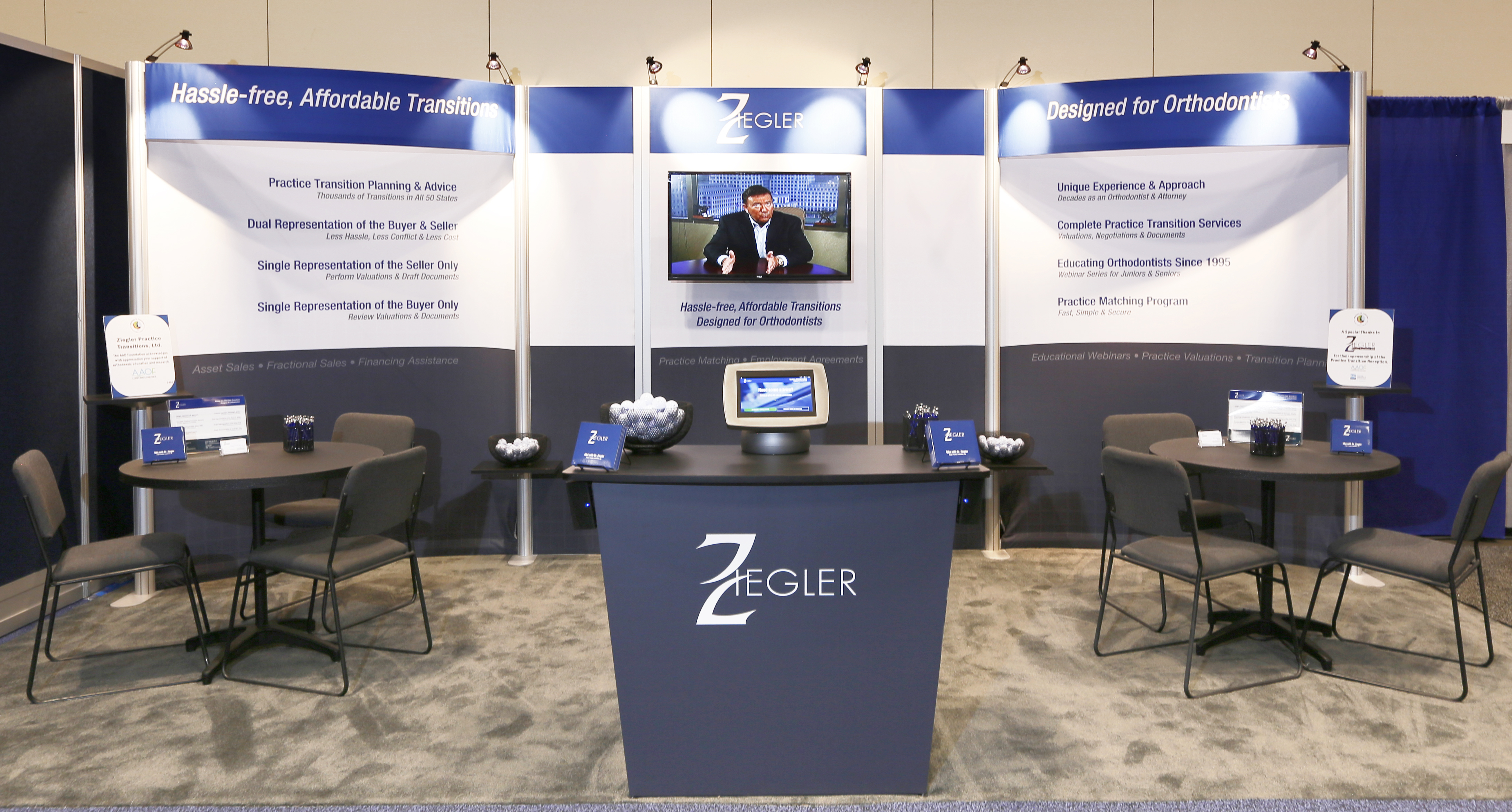 Our Booth at the AAO